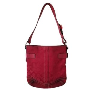 Coach Bags - Coach Signature slim Leather Shoulder bag red